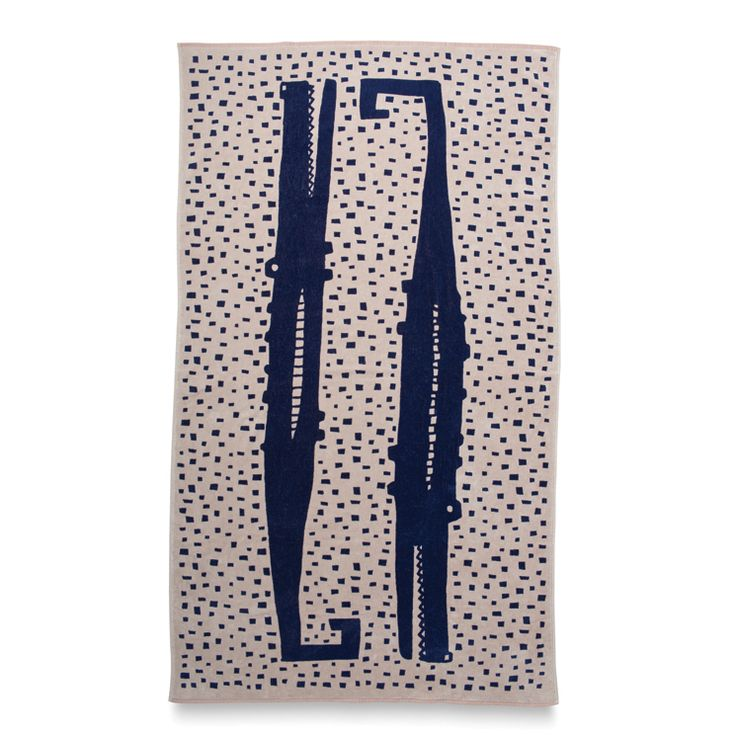 Alligator Printed Beach Towel | Citta Design $79.90