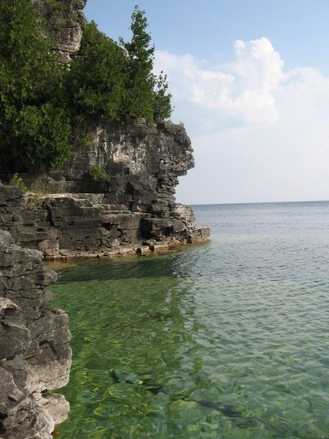 Cyprus Lake- Bruce National Park of Canada - Georgian Bay, Bruce Pennisula Ontario Canada