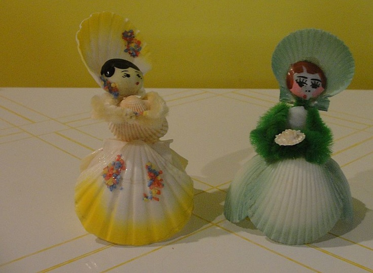 Seashell lady girl friends.
