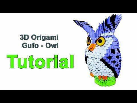 Origami 3d Owl Tutorial 1/32 Origami 3d Gufo Tutorial - YouTube