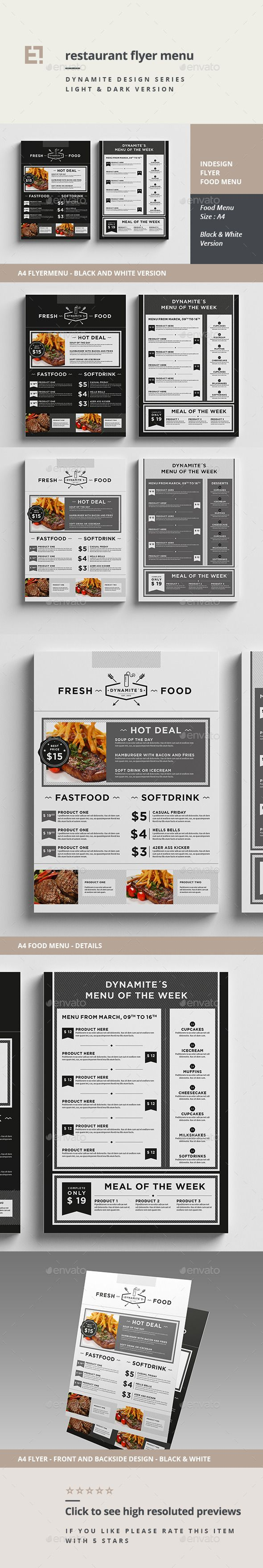 Restaurant Menu Flyer #poster #print template #restaurant #restaurant menu #retro #$7