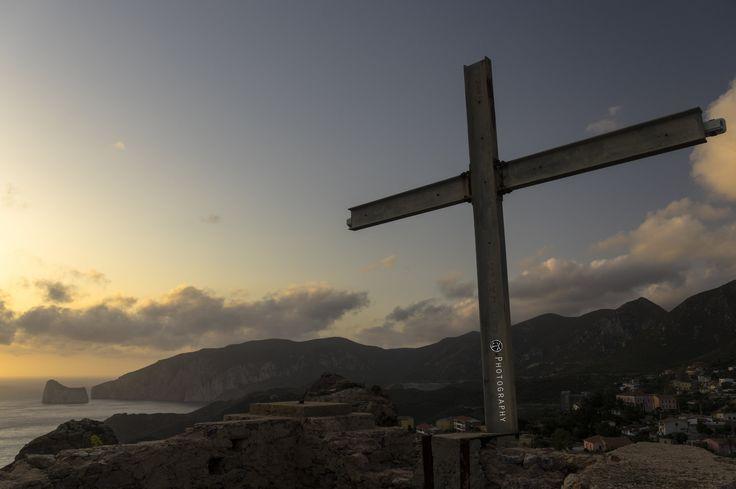 https://flic.kr/p/tcSNxN | La Croce di Nebida | panoramica con vista mare e Pan Di Zucchero