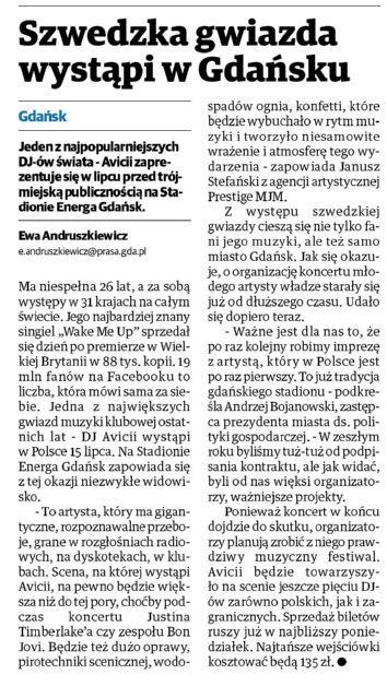 #DziennikBałtycki: Szwedzka gwiazda wystąpi w Gdańsku