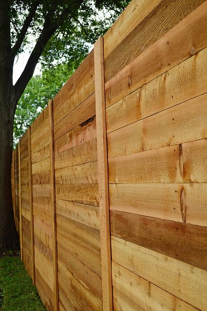 horizontal cedar fence - It's Great to Be Home by It's Great To Be Home, via Flickr