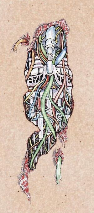 Cyborg Tattoo Design