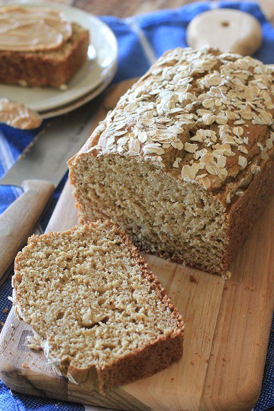Flourless Sandwich Bread #GrainFree #CleanEating #OatFlour
