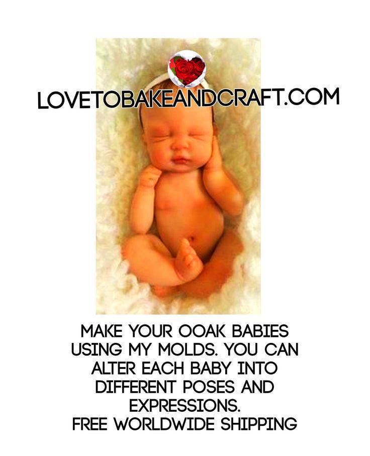 Ooak, OOAK baby, OOAK baby mold, lovetobakeandcraft.com