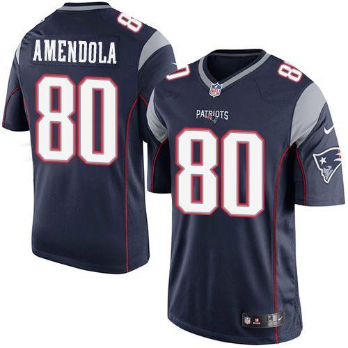 Nike New England Patriots Men's #80 Danny Amendola Limited Navy Blue Home NFL Jersey