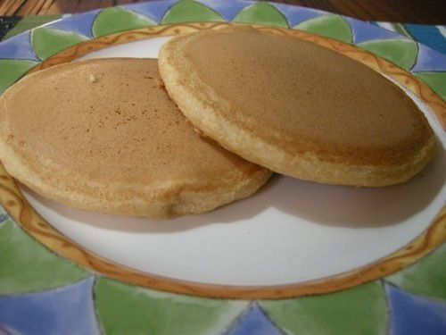 Happy Herbivore Vegan Pancakes: made these this morning and the kids loved them! I did add about 1 cup applesauce and 1 cup of blueberries. Delicious!