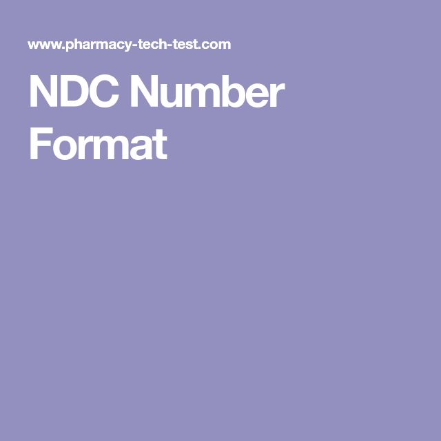 NDC Number Format