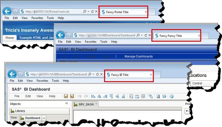 Add Branding to SAS BI Toolset #sas #portal