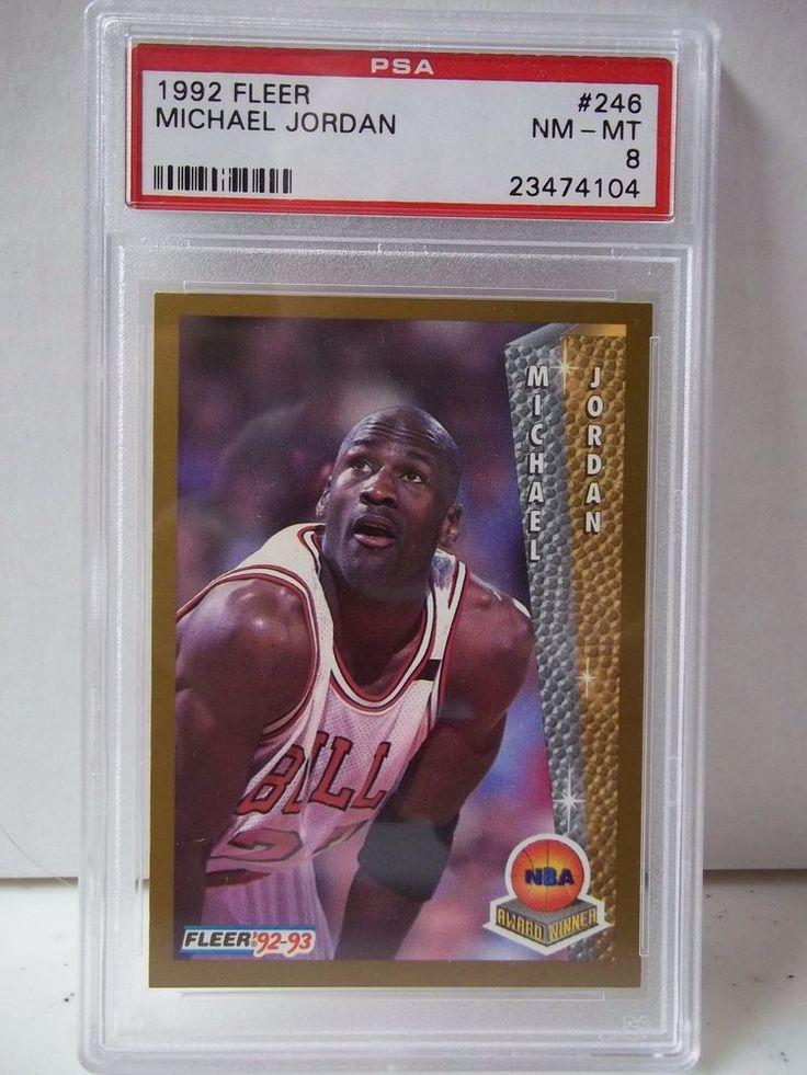 1992 fleer michael jordan psa graded nmmt 8 basketball