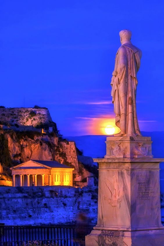 The statue of Count Ioannis Kapodistrias, Governor of Greece (1827-1831) in Corfu