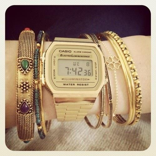 #casio Accesorios & Relojes casio, dorado, vintage, mujer, water resist, watch, casio want,  retro,