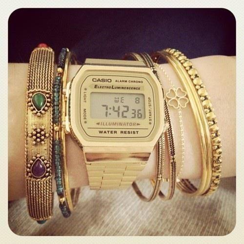 #casio Accesorios & Relojes casio, dorado, vintage, mujer, water resist, watch, casio want,  retro,