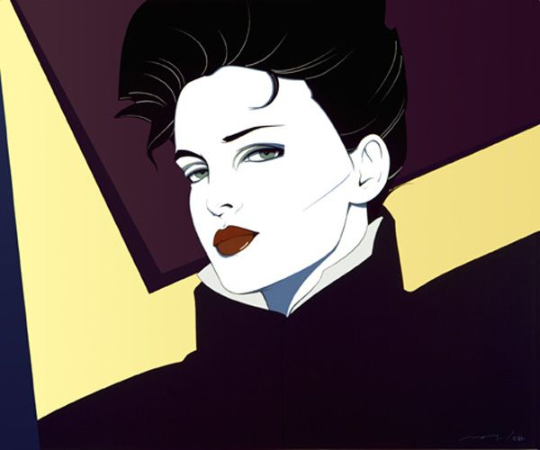 Patrick Nagel art.  80's staple.