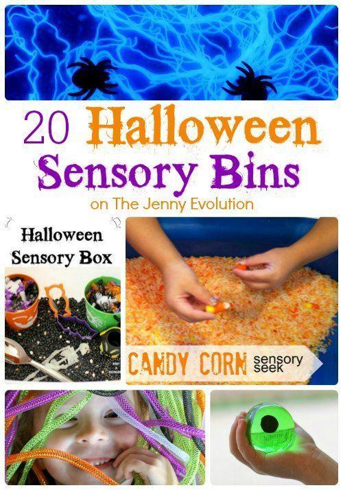 20 Halloween Sensory Bins to Delight | The Jenny Evolution