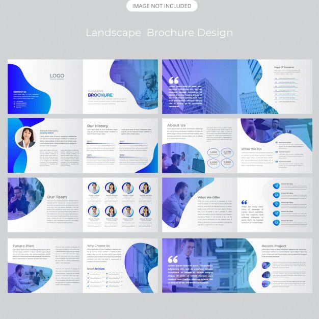 16 Page Company Landscape Profile Design Di 2020 Brosur Desain Palet Warna