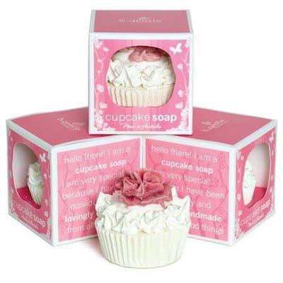 Cupcake Soap Packaging, b. gentles soaps, made in Australia