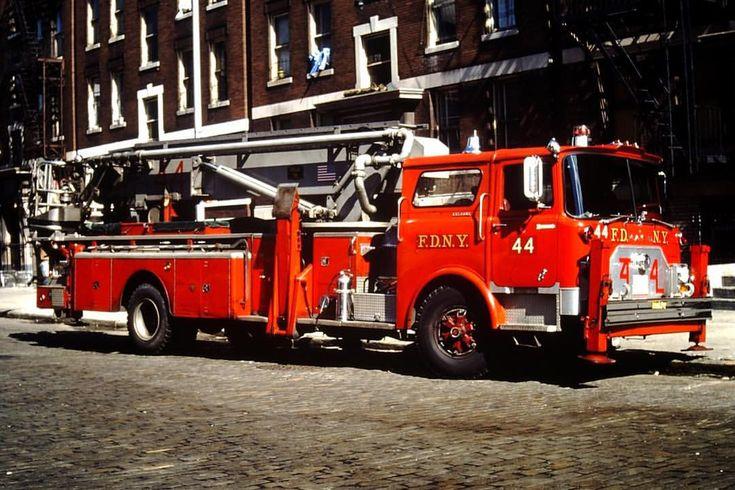 FDNY Ladder 44 1972 Mack CF 75' Tower Ladder. fdny