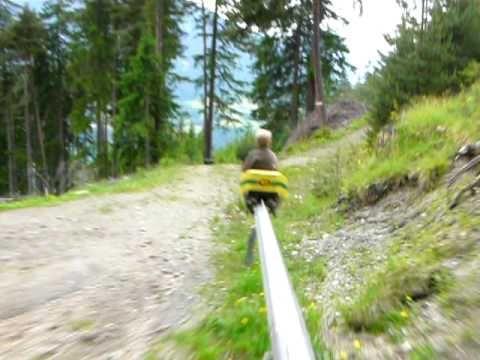 badASS monorail mountain coaster in Austria! Wanna ride it soooo bad! // Sommerrodelbahn im Stubaital - Mountain Coaster