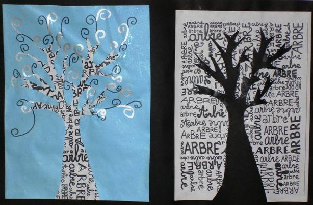 arbre vis a vis arts visuels pinterest articles. Black Bedroom Furniture Sets. Home Design Ideas