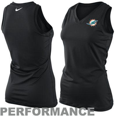 Nike Miami Dolphins Womens Endzone Performance Tank Top - Black ...