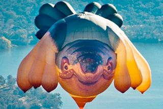 Skywhale comes to Brisbane- Designed by artist Patricia Piccinini, the 34m long hot air balloon is set to visit Brisbane as part of the Performing Arts Market