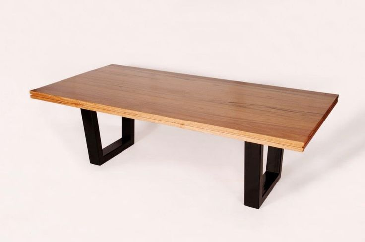 Metalico Dining Table, Australian made (imported legs), with the Australian hardwood Messmate.  Have it made in your choice of stain, legs, and size.    From Urban Rhythm, Melbourne urbanrhythm.com.au