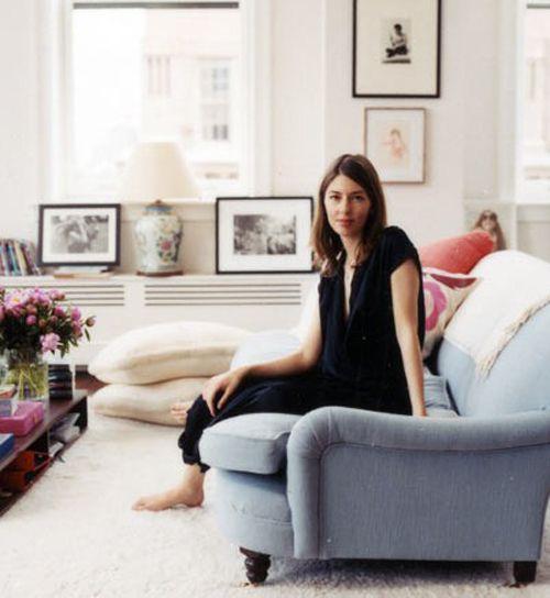A blue George Smith sofa just like Sofia Coppola's