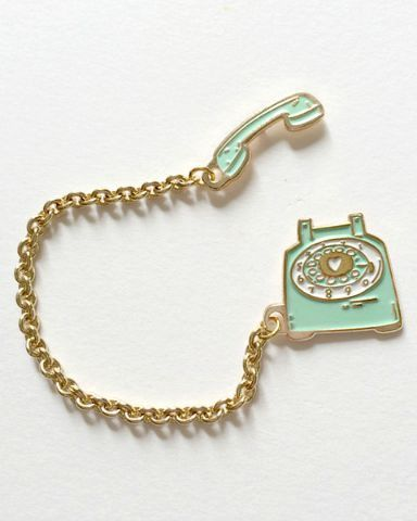 Hello Holiday · Vintage Telephone Lapel Pin