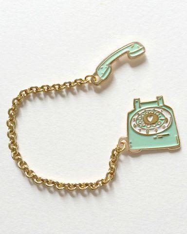 Hello Holiday · Vintage Telephone Lapel Pin