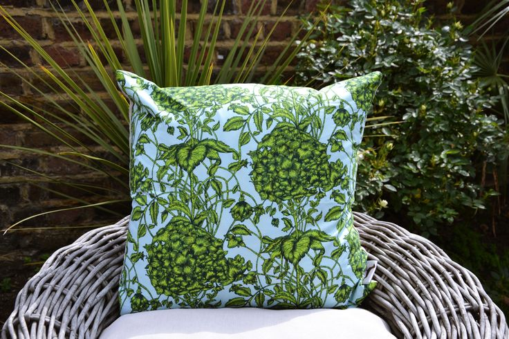Large Green Flower Cushion Cover £22.00