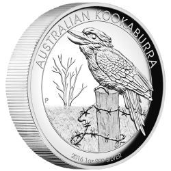 Australian Kookaburra 2016 1oz Silver Proof High Relief Coin