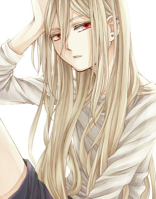 Long blonde hair anime