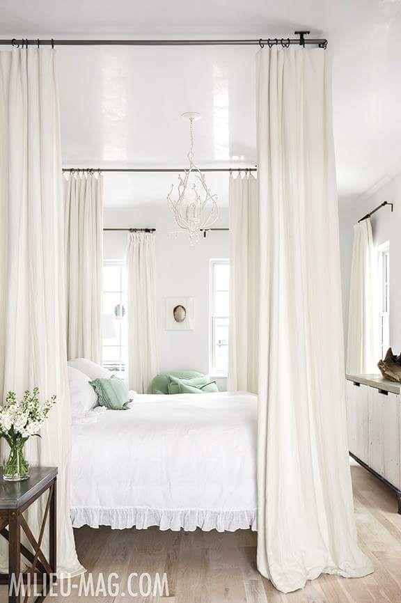 elegant white bedroom