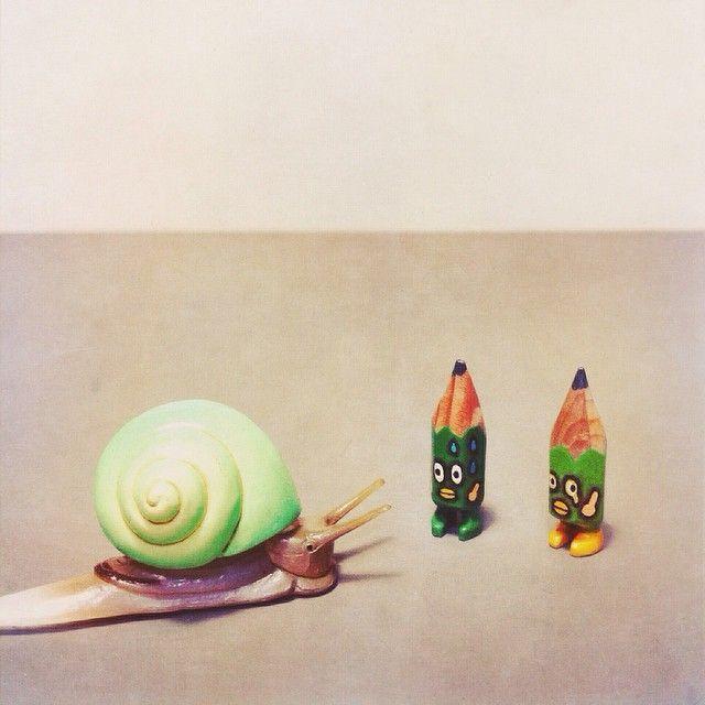 ✏️✏️ #art #acrylic #artwork #tiny #figure #doll #tinydoll #wood #woodcarving #pencil #pencilman #etsy #creative #craftsposure #stationery #handmade #miniature #toy #snail