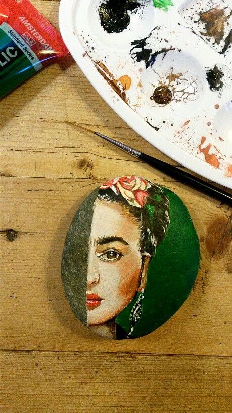 Jitka's stone paintings.