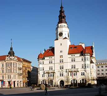 The city hall in Opava (Silesia), Czechia