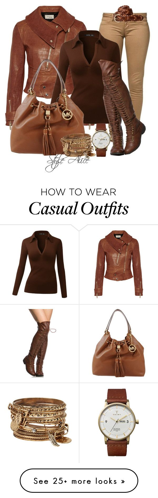 """Casual"" by alice-fortuna on Polyvore featuring Temperley London, MICHAEL Michael Kors, Triwa and ALDO"
