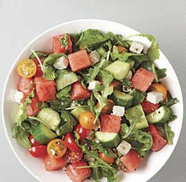 Tomato and Watermelon Salad with Feta - Fine Cooking Recipes, Techniques and Tips