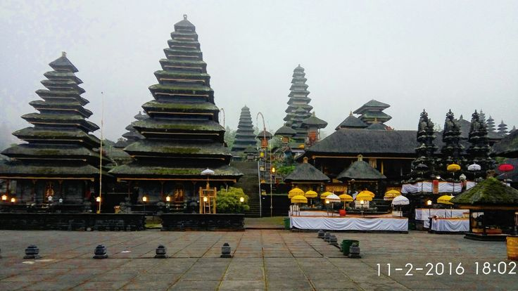 Besakih temple. the biggest temple complex in bali , the center of hindu ritual in bali