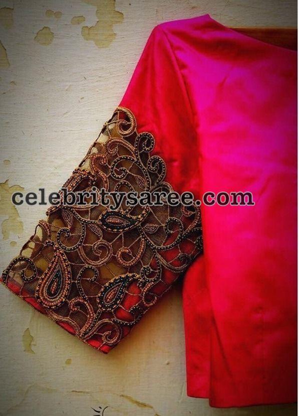 95fb5fb9d1d76c 3-quarter-sleeves-cut-work-blouses-design2
