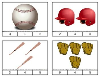 Baseball Count & Clip Cards *Common Core Aligned*