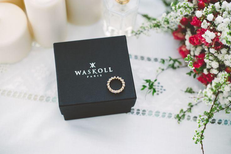 Alliance or jaune et diamants - Maison Waskoll