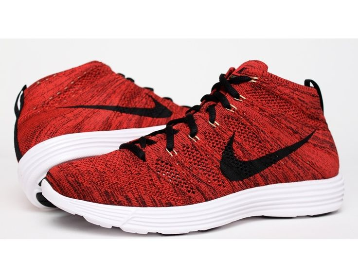 nike flyknit high top red