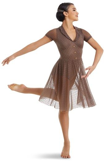 88f5680e5a7 Mesh Vintage Dress with Collar | Weissman® | Dance costumes in 2019 ...