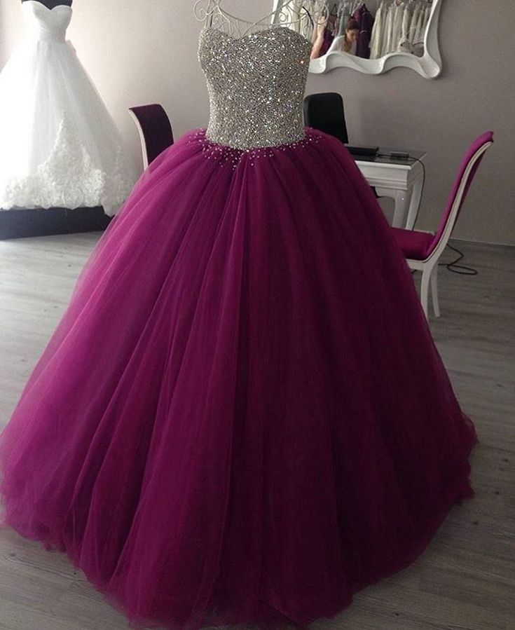 Prom Dress Ball Gown, Purple Princess Ball Gowns 2016 ,Sweet 16 Dresses, Quinceanera Dresses