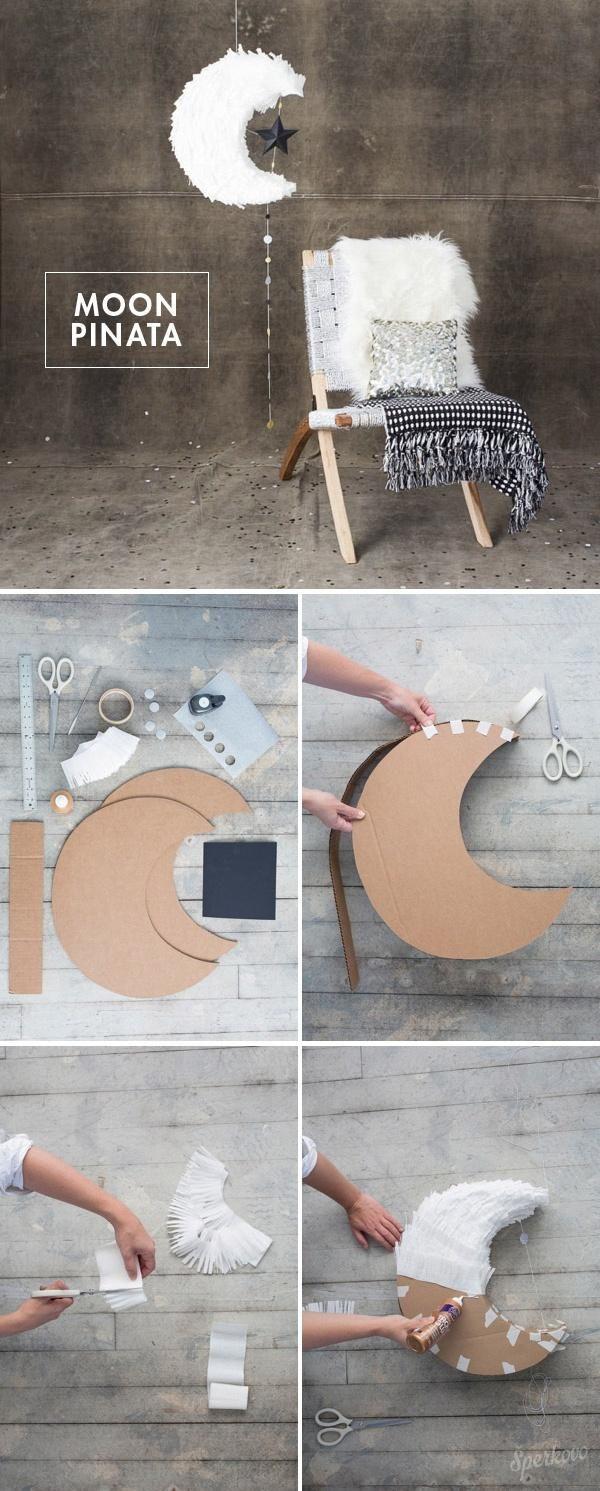DIY moon pinata | mesiačik