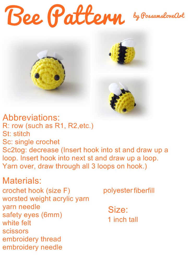 so cute! i wanna try doing this! #tumblr  link:http://possumsloveart.tumblr.com/ cute kawaii bee to crochet beginners amigurumi